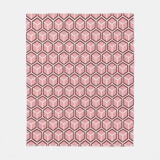 Red Honeycomb Pattern Fleece Blanket