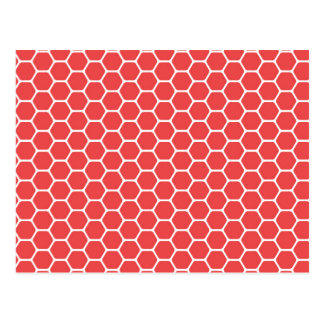 Red Honeycomb Postcard