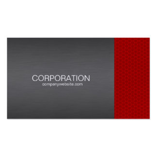Red honeycomb professional, elite business card