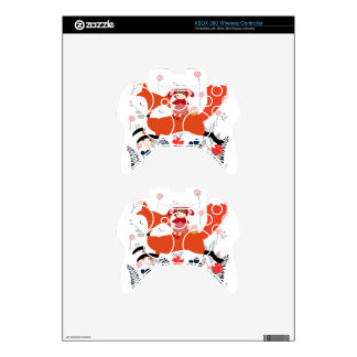 Red hood riding girl and fox in flower garden xbox 360 controller skins