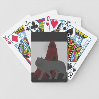 Red-Hooded Figure and Wolf Bicycle Playing Cards