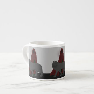 Red-Hooded Figure and Wolf Espresso Cup