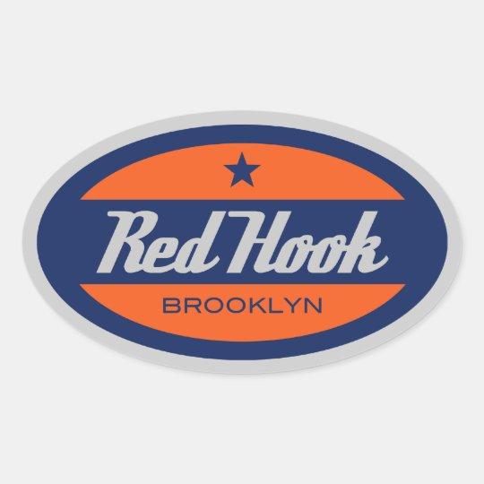 Red Hook Oval Sticker