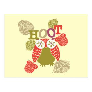 Red Hoot Owl Postcard