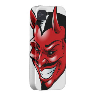 Red Horned Demon iPhone 4 Case