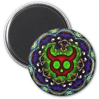 Red Horned Devil's Dance Macabre Magnet