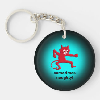 Red Horned Imp, Pointed Tail, sometimes naughty Keychain