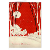 Red Horse and Carriage Card