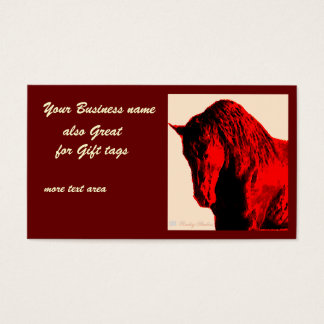 Red Horse Business Card