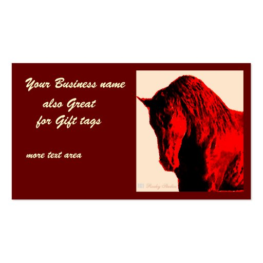 Red Horse Business Card Template