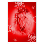 Red Horse ~ Christmas Card