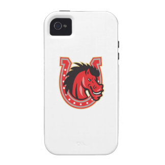 Red Horse Head Horseshoe Case-Mate iPhone 4 Cover