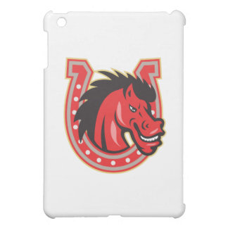 Red Horse Head Horseshoe Cover For The iPad Mini