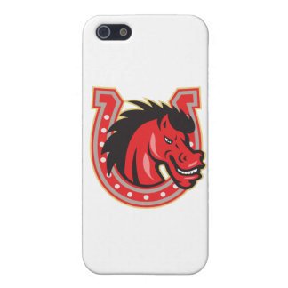 Red Horse Head Horseshoe iPhone 5/5S Case