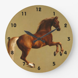 RED HORSE LARGE CLOCK