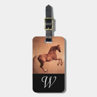 RED HORSE  Monogram Bag Tag