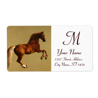 RED HORSE MONOGRAM ,brown white Label