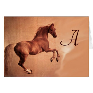 RED HORSE MONOGRAM CARD