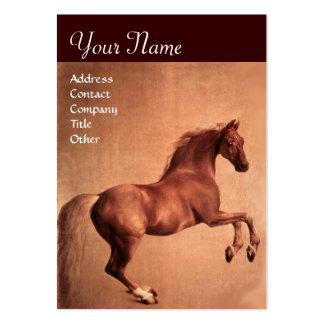 RED HORSE Monogram Large Business Cards (Pack Of 100)