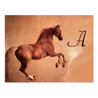 RED HORSE MONOGRAM POSTCARD