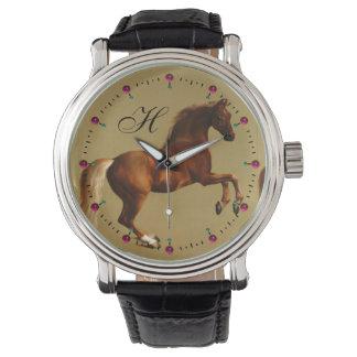 RED HORSE MONOGRAM WRISTWATCH