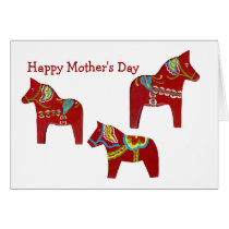 Red horse Mother's Day Card