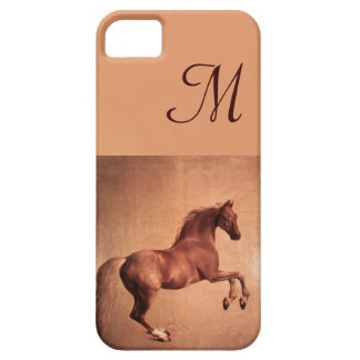RED HORSE Parchment Monogram iPhone 5 Covers