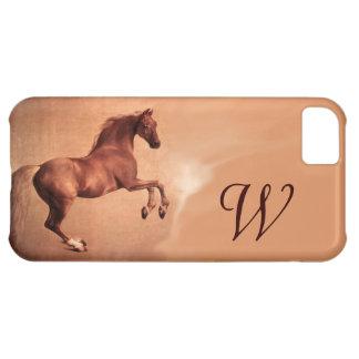 RED HORSE Parchment Monogram iPhone 5C Cases