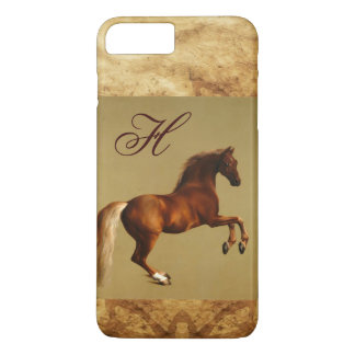 RED HORSE Parchment Monogram iPhone 7 Plus Case