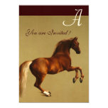 RED HORSE Party Felt paper 5x7 Paper Invitation Card