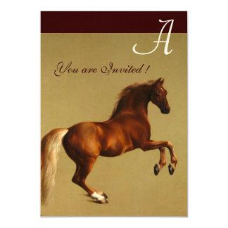 RED HORSE Party Felt paper Custom Invitations