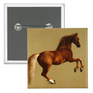 RED HORSE PINBACK BUTTON