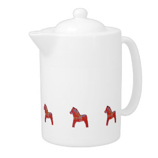 Red Horse Teapot