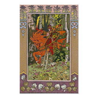 Red Horseman Russian Fairy Tale Print