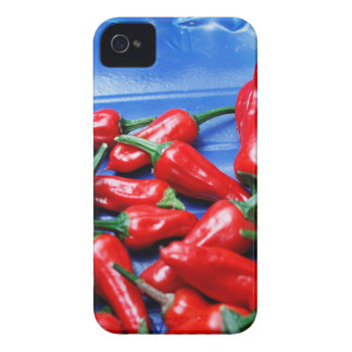 Red hot and blue: chilli peppers iPhone 4 cover