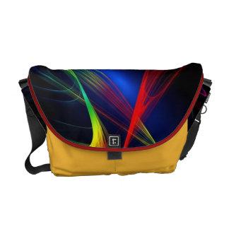 Red Hot And Blue Lights Messenger Bag