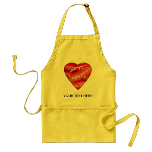 Red hot and spicy adult apron