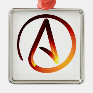 Red Hot Atheist Metal Ornament