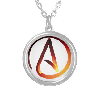 Red Hot Atheist Silver Plated Necklace