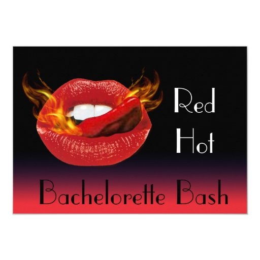 Red Hot Bachelorette Bash Invitation Zazzle