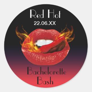 Red Hot Bachelorette Bash Seal Sticker