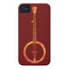 Red Hot Banjo Iphone 4 Case-mate Case at Zazzle