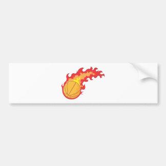 Red Hot Basketball Bumper Sticker