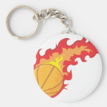 Red Hot Basketball Key Chain