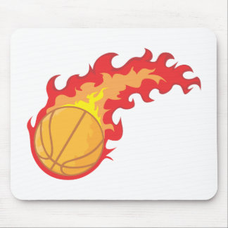 Red Hot Basketball Mouse Pad