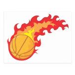 Red Hot Basketball Postcard