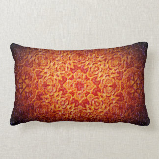 """Red Hot Blizzard"" Mandala Pillow"