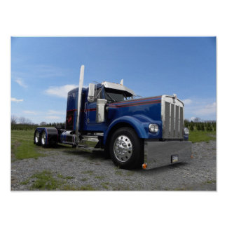 """""""Red Hot & Blue"""" Kenworth A Model Posters"""