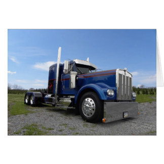 Red Hot & Blue Kenworth Note Card