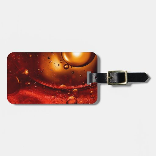 Red hot bubbles travel bag tag